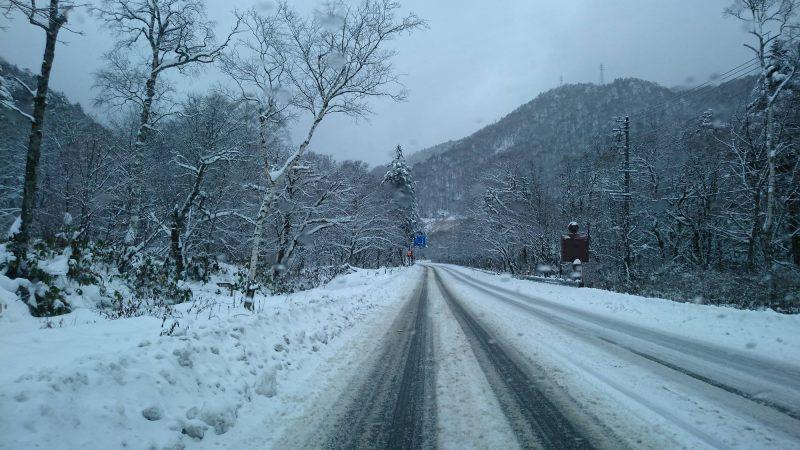 自動車の冬装備を準備してください